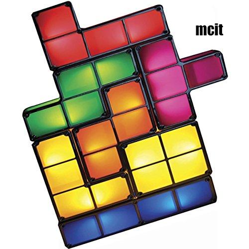 lampada Tetris Cube Regalo Regno con mattoncini impilabili in stile retrò