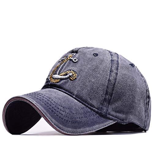 Baseball Caps Vintage Style Alte Piratenschiff Anker Stickerei Hysteresenkappen Mode Sport Hüte Männer Frauen Sun Caps, Navy
