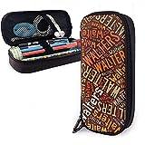Walters - American Style Custodia in pelle per matite ad alta capacità Penna Cartoleria Organizer Scuola Trucco Penna Stuff Borsa da viaggio