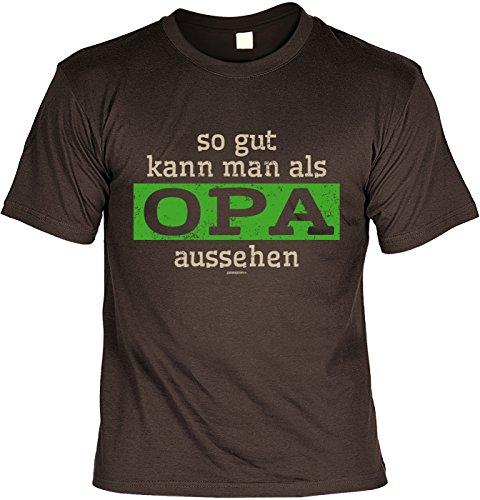 T-Shirt - So gut kann man als Opa aussehen - cooles Shirt mit lustigem Spruch als Geschenk zum Vatertag Braun