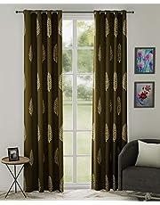 Linenwalas 2 Piece Hand Block Print Cotton Curtain (Set of 2 pcs)