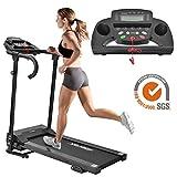 Merax Elektrisches Klappbarer Laufband Fitnessgerät Heimtrainer verstaubar kompakt mit LCD-Display...