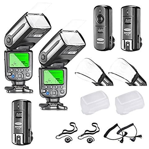Neewer NW565EX E-TTL LCD Display HSS Slave Flash Speedlite Kit