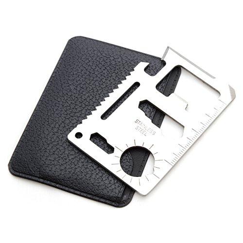 Multifunktionswerkzeug, multifunktionelles survial Tool in kompaktem Kreditkartenformat, Outdoor Tool mit Säge, Messer, Flaschenöffner uvm, Marke Ganzoo