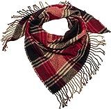 styleBREAKER foulard triangolare XXL con motivo Principe di Galles, frange, sciarpa invernale, foulard, 01018160, colore:Bordeaux-rosso-marrone-nero