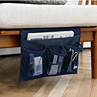 3-otters organizer portaoggetti a letto, divano organizer portaoggetti, tavolo cabinet Storage organizer, blu