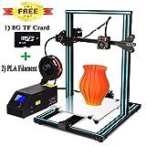 3D Drucker, CTC A10S DIY Prusa i3 MK8 Desktop Upgrade 3D Drucker V-Slot Aluminiumlager Rahmen Mechanische Druck Kit Materialien Drucker Filament ABS/PLA 1.75mm (Druckgröße: 300 * 300 * 400 mm)