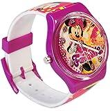 """Kinderuhr / Armbanduhr - """" Disney - Minnie Mouse """" - Analog - Quarz / Analogarmbanduhr - Lernuhr - hochwertige Uhr / Kinderarmbanduhr - Kinder - Uhren - Quarzuhr - Maus Mäuse - Playhouse / Clubhouse - rosa pink - Punkte / für Mädchen - Analoguhr"""