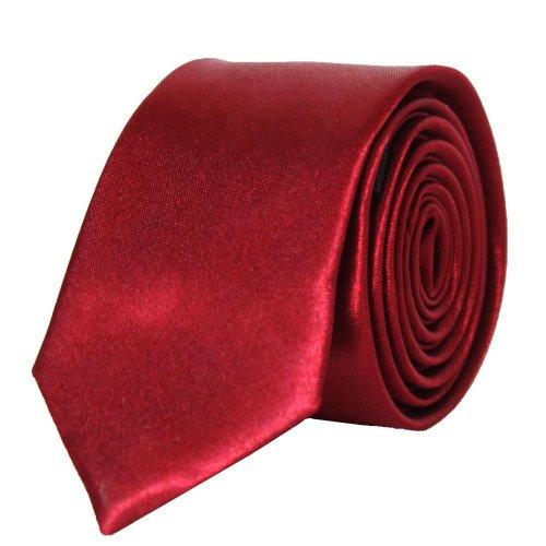 Kebello Cravate Satin Slim Rouge