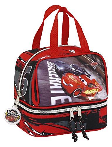 safta- Cars 3 811709040 Bolsa portameriendas, Color Rojo/Negro, 25x8x20 cm (