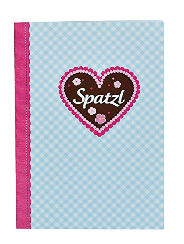 Spatzl - Notizbuch / kleines Tagebuch / Muttiheft - blanko weiß - klein A6 mit 48 Seiten - auch als Aufgabenheft / Vokabelheft / Oktavheft für Mädchen Kinder Lebkuchen Trachten