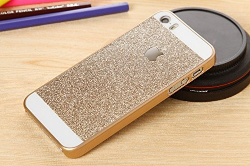 Rapid Zone Luxury Hard Glitter Back Cover For Apple Iphone 4/4S - Golden  available at amazon for Rs.249