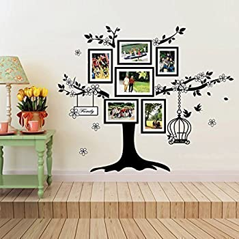 Walplus 150x100 Cm Wall Stickers Birdcage Photo Frame Removable  Self Adhesive Mural Art Decals Vinyl