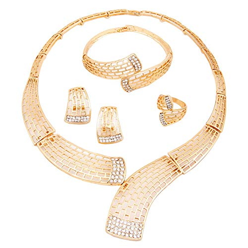 Yazilind Jewellery Sets for Women Elegantes Damen Simple Design Element für Bräute Brautjungfer Kostüm Mädchen