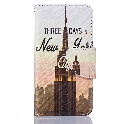 iPhone 6/6S Coque New York City, Lotuslnn Apple 6/6S Cuir Coque Wallet Case Etui Housse( Coque+ Stylus Stift+Screen Protector) New York City