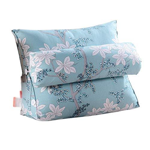 Cxmm Kissen Rückenkissen mit Verstellbarer Kopfstütze Unterstützung Bett Lesen Rest Taille Stuhl Autositz Sofa Lendenkissen (Größe: 60 cm) -