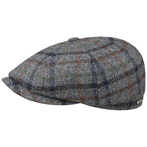 Hatteras Wool Winter Coppola Stetson cappello piatto berretto piatto 55 cm - grigio