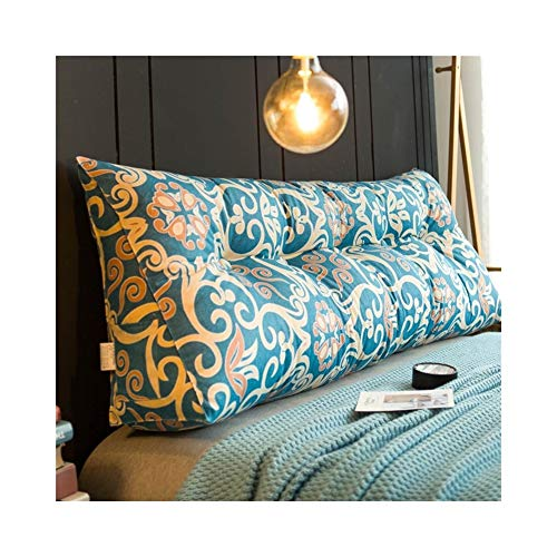 MH-Cushions Kissen, Bettkissen Großen Rücken Doppelbett Auf Tatami Bett Kopfteil Softbag Einfache Rückenkissen Dreieck Taille Kissen (Color : W, Size : 60x20x50cm) -