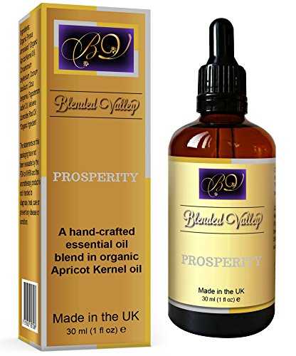 Blended Valley Aromatherapy Oil PROSPERITY - Essential oils Patchouli, Bergamot in Apricot Oil. For Humidifier, Burner Incense, Diffuser. To Attract Success, Abundance.