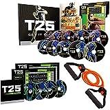 ZONEV Shaun T's T25 Home Fitness DVD Workout Programma 14 DVD met weerstandsbanden en voedingsgids cardio Indoor fitness training (Zoals te zien op TV)