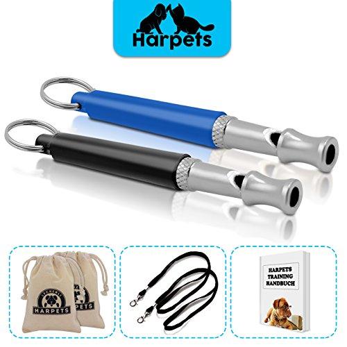 2x-hundepfeifen-set-von-harpets-inklusive-2x-futterbeutel-2x-umhangebander-schnellstart-guide-pfeife