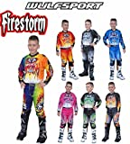 WULFSPORT Moto da corsa Suits ARENA Motocross Quad ATV MX Racing Sport stile nuovo bambini abbigliamento Camicie e pantaloni per bicicletta per bambini tutti i colori - Orange - 5-7 anni