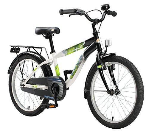 Fahrrad Jungen (BIKESTAR Premium Sicherheits Kinderfahrrad 20 Zoll für Jungen ab 6 - 7 Jahre ★ 20er Kinderrad Modern ★ Fahrrad für Kinder Schwarz & Weiss)