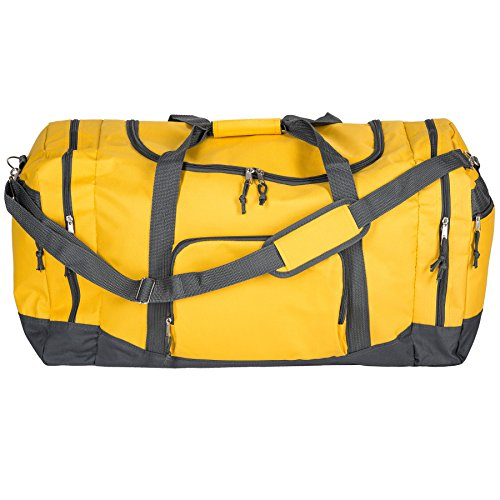 TecTake Sporttasche Reisetasche Umhängetasche Trainingstasche mit Trageriemen 70 x 35 x 35cm - diverse Farben - Gelb | Nr. 402372