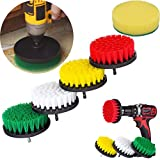 1520/5000 5Pcs stucco pulitore di pulizia Pulitore Brush Cleaner Combo Tool Kit per tutti gli usi Drill Scrub Pad Cleaner Scrubbing Cordless Drill (Multi)