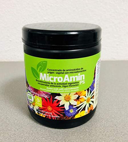 MicroAmin® (2.000 m2; Complejo nutricional Aminoácidos y microelementos (Hierro, Zinc, etc). Plantas, Flores y Cultivos. Ecológico