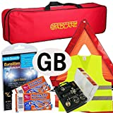 GADLANE European Car Driving Travel Kit France - NF Approved Alcohol Breathalyser, Warning Triangle, GB Plate - In Zipped Bag