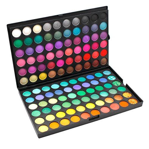 DISINO Kit de Maquillage Palette Fard Ombre à paupières Cosmétique, Brillant et Dynamique, Fards à paupières Eyeshadow Makeup Professionel (120 Couleurs) - Motif 1