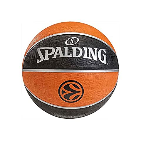 Spalding, Euroleague TF ?150 Sz Rubber Rubber 5, Noir/orange, 5