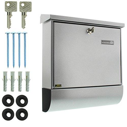 BURG-WÄCHTER, Briefkasten-Set mit Zeitungsbox A4 Einwurf-Format, Verzinkter Stahl, Set Vario Si, Silber - 5