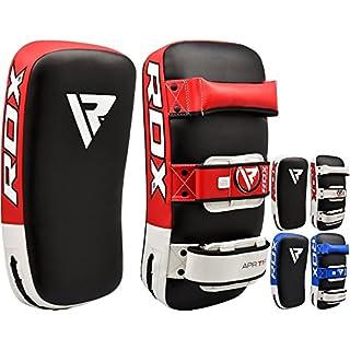 RDX MMA Schlagschild Gebogenes Training Thai Pad Kick Fokus Ziel Boxen Stanzen Fäustlinge (DIES IST als EINZELTEIL VERKAUFT), Rot, One Size