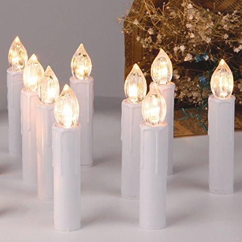 Preisvergleich Produktbild CCLIFE 20/30/40 Warmweiß/Kaltweiß LED Baumkerzen Lichterkette Weihnachtsbeleuchtung - Kabellos, Fernbedienung, Farbe:Weiss, Größe:20er