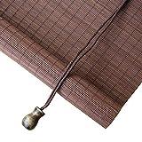 Tende a Rullo di bambù Paralume a Rullo Leggero, bambù Paralume a Rullo, 55% di filtraggio della Luce Paralume per Finestra Parasole Tendina Parasole ZHANGAIZHEN