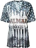 Balmain Luxury Fashion Damen 128117720I5800 Blau T-Shirt | Jahreszeit Permanent