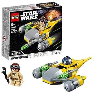 LEGO Star Wars - Microfighter: Caza Estelar de Naboo, juguete de construcción de nave espacial de La Guerra de las Galaxias con Anakin Skywalker (75223)