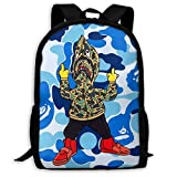 Sacs à Cordon,Sacs de Sport,Sacs à Dos Loisir, Bape 11 Backpack College School Travel Bags Waterproof Shoulder Backpacks for Men Women