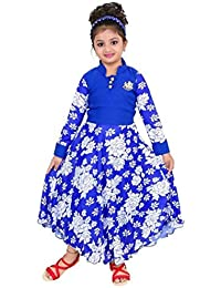 DIGIMART Girl's Blue Fancy Party Wear Long Frock (FTCGOWN02)