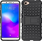 RJM Sales & Service Vivo Y71 Defender Stylish Hard Back Armor Shock Proof Case Cover with Back Stand Feature