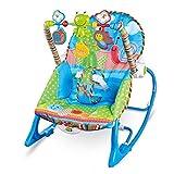 GZ Baby Schaukelstuhl, Multifunktionaler Leichter Schaukelstuhl Mit Elektrischem Baby, Der Recliner Swing Hocker Beruhigt,Blau,1