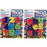52er Set bunte Magnete Zahlen und Buchstaben abc 123 Magnet Memo Kinder Lernen Hilfe Tafel