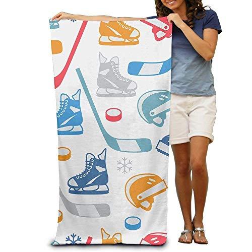 "ruishandianqi Strandtücher Handtücher 2019 Bath Towel Ice Hockey Elements Creative Patterned Soft Beach Towel 31""x 51"" Towel with Unique Design"