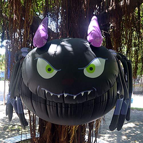 Yiwa Halloween Dekon,Grusel zur Dekoration von Haus, Tisch & Garten,Aufblasbarer hängender Ballon für Halloween-Yard-Einkaufszentrum-Bar-Party-Dekor im Freien Große aufblasbare Spinne