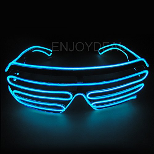 Enjoydeal El Wire Neon LED Light Up Shutter Shaped