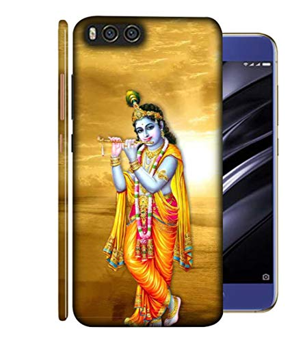 SAMRNG Amazing Designer Back Case Cover for Xiaomi Mi A1 (Mi 5X) with The Unique Design of Lord Krishna with Orange backgroundWith The Beautiful Multicolour Colour