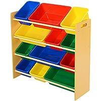 Preisvergleich für 12 Kinderregal Aufbewahrungsregal Spielzeugbox Spielzeugregal Spielzeugkiste Kindermöbel Kinder Aufbewahrung Boxen
