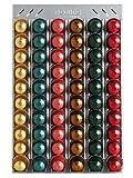 Portacápsulas Dispensador de cápsulas CoffeeRack Wall N60 plata para Nespresso